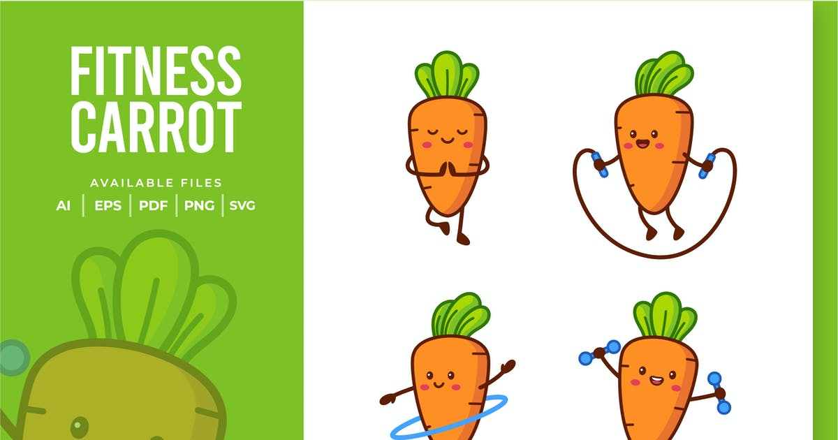 Download Cute Fitness Carrot by yellowline_std