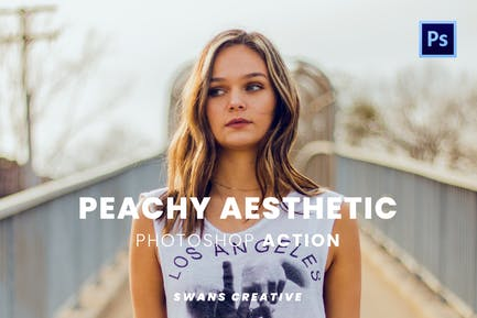 Peachy Aesthetic Photoshop Action