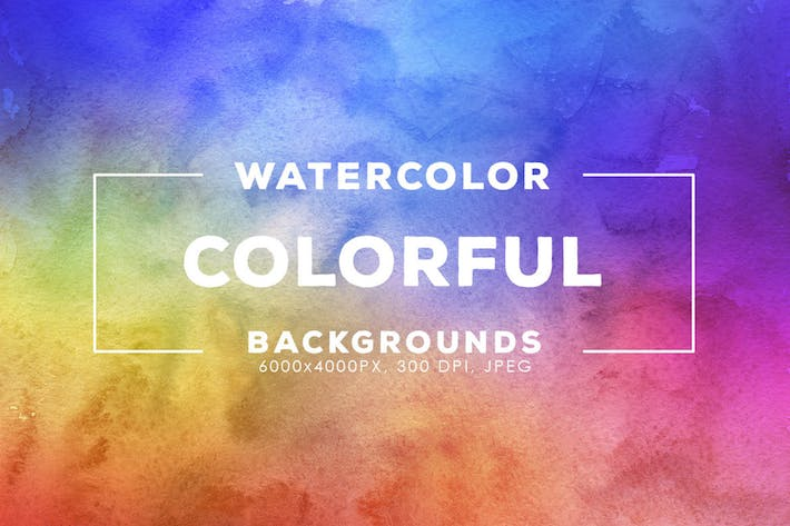 Cover Image For 30 Colorful Watercolor Backgrounds