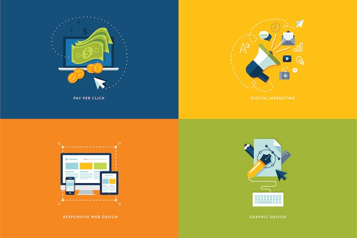 Thumbnail for Digital Marketing and Web Development Icons