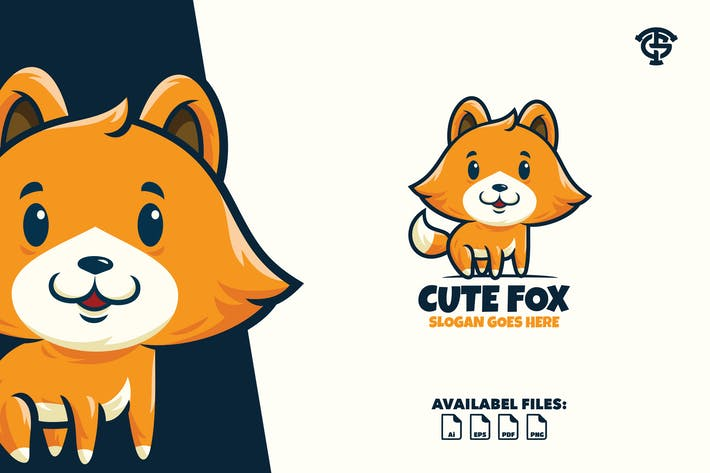 Thumbnail for Cute Fox - Logo Mascot