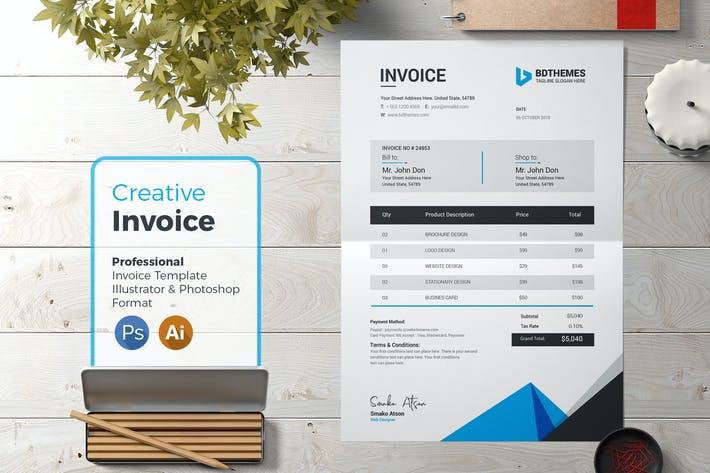 Thumbnail for Invoice Template 09