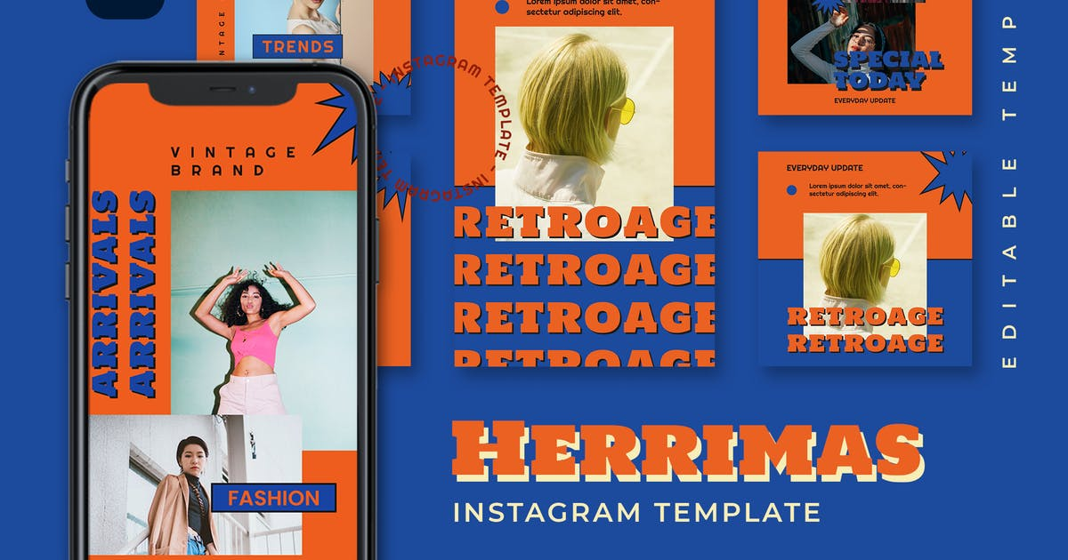 Download Herrimas - Retro Instagram Stories and Post by TanahAirStudio