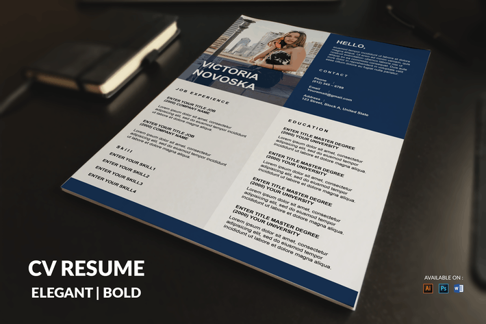 Cover Image For CV Resume Simple And Bold