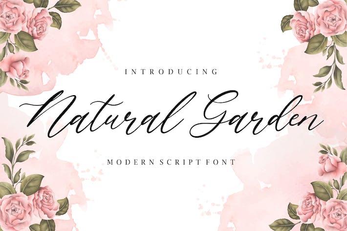 Thumbnail for Natural Garden Script Fuente YH