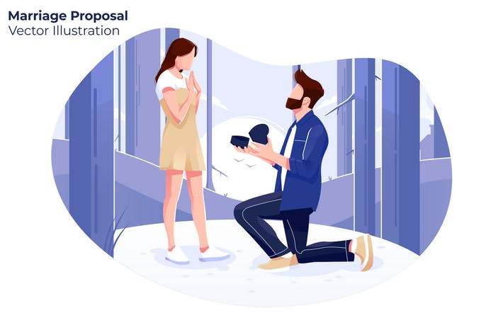 Thumbnail for Marriage Proposal - Vector Illustration