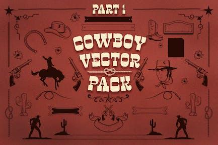 Cowboy vector pack