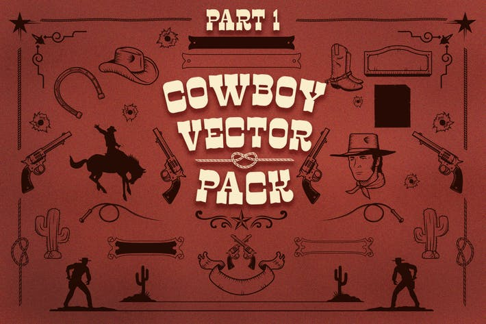 Thumbnail for Cowboy vector pack
