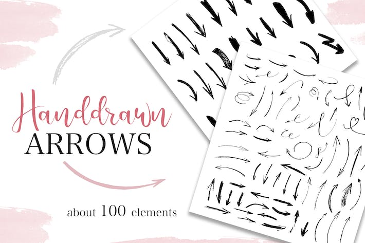 Thumbnail for Handdrawn arrows collection