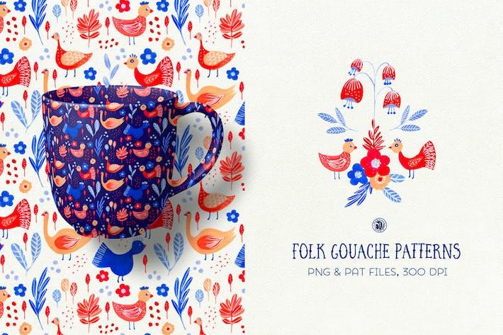 Thumbnail for Folk Gouache Patterns