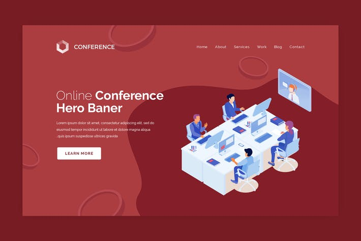 Thumbnail for Conference - Online Conference Hero Banner