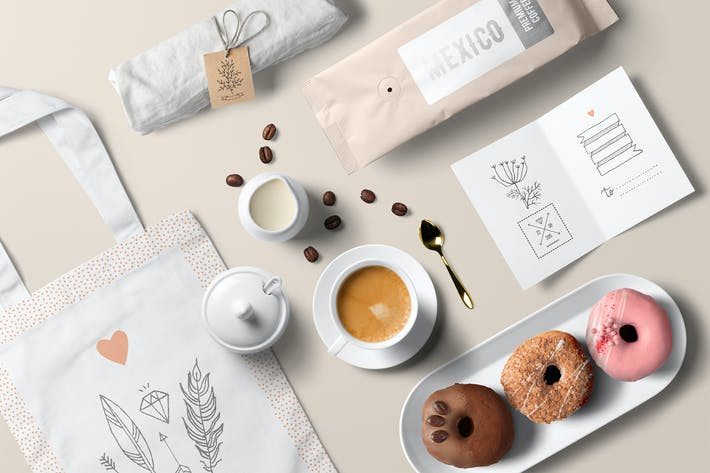 Cover Image For Coffee Branding Mockup