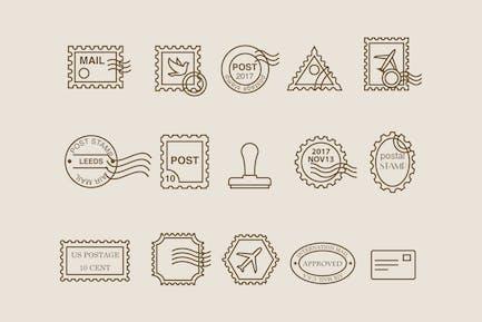 15 BriefmarkensIcons
