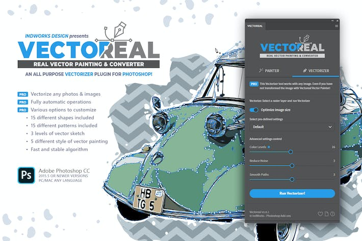 Thumbnail for Real Vector Painting & Converter PS Plugin