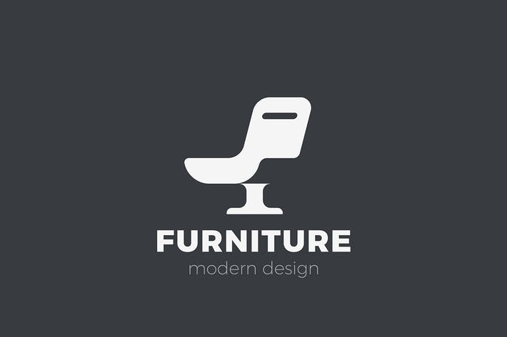 Thumbnail for Logo Armchair Furniture Chair Negative space style