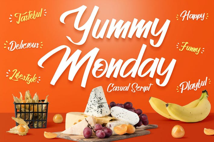 Thumbnail for Yummy Monday - Fuente escrita a mano juguetona