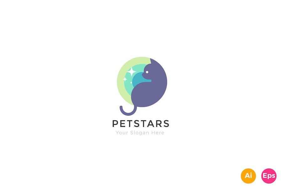 Pet Star Creative Logo Template