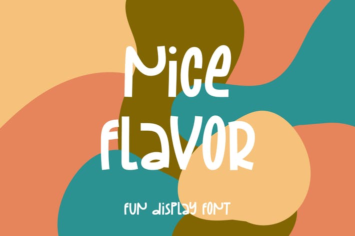 Thumbnail for Nice Flavor - Fun Display Font