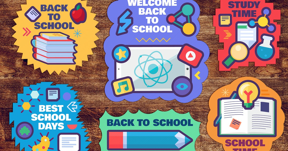 Download Back To School Stickers Set by barsrsind
