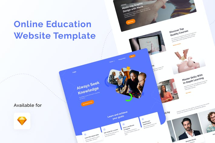 Thumbnail for Online Education Website Template