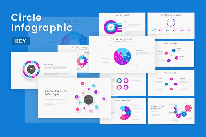 Thumbnail for Circle - Infographic Keynote Template