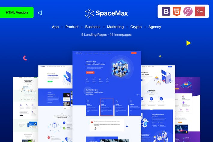 Thumbnail for SpaceMax - Multipurpose HTML Landing page