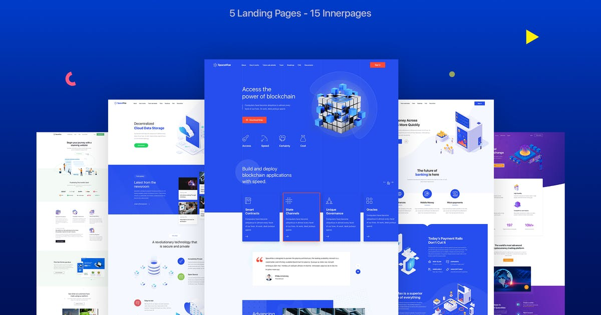 Download SpaceMax - Multipurpose HTML Landing page by tunerpixel