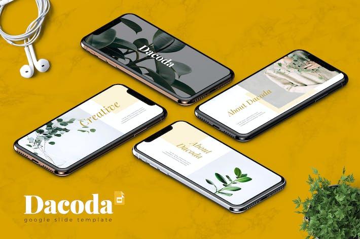Thumbnail for DACODA - Creative Google Slides Template