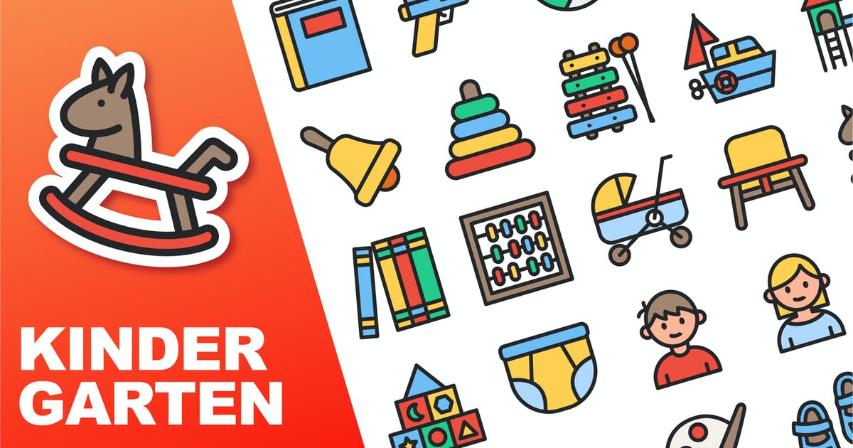 Download Kindergarten Color Icons by yellowline_std