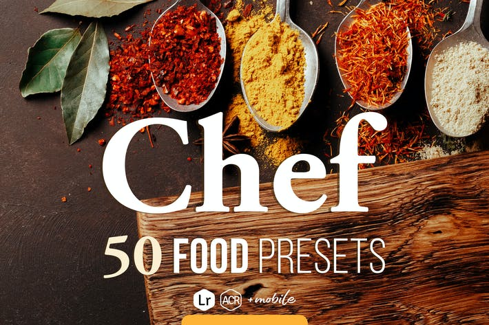 Cover Image For Chef - Food Presets for Desktop & Mobile