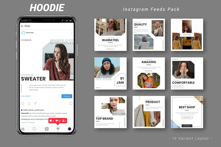 Thumbnail for Hoodie - Instagram Feeds Pack