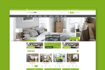 Online Sale - eCommerce PSD Template