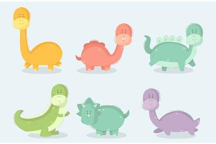 Cartoon Dinosaur Illustration