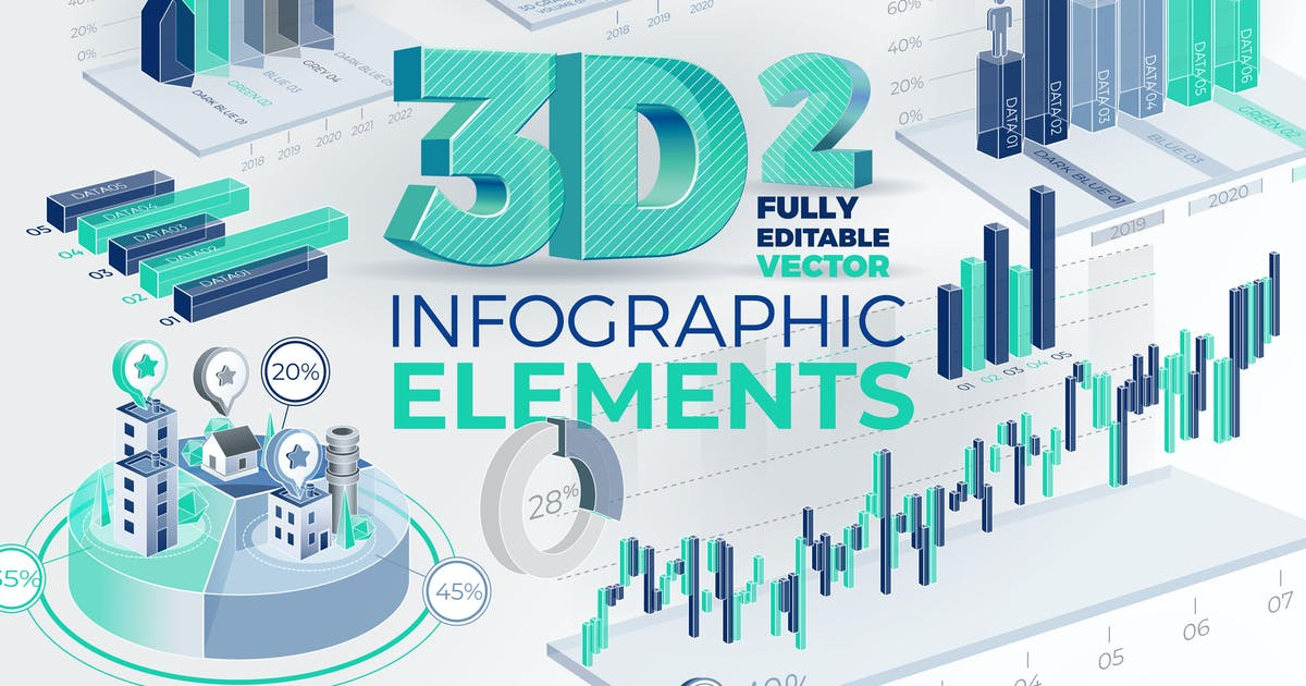 Download 3D Corporate Infographic Elements 2 by ConceptCafe