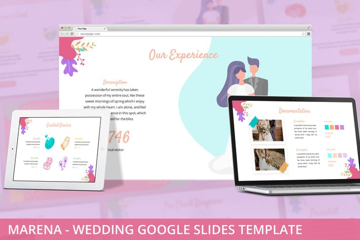 Thumbnail for Marena - Wedding Google Slides Template