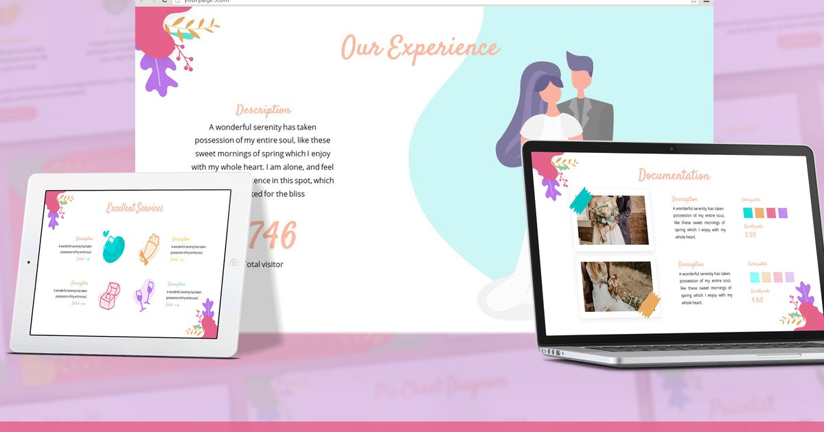 Download Marena - Wedding Google Slides Template by SlideFactory