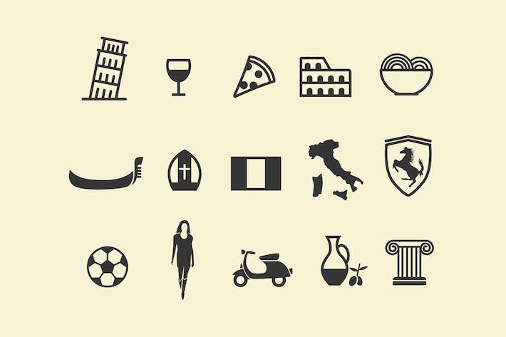 15 Italien Icons