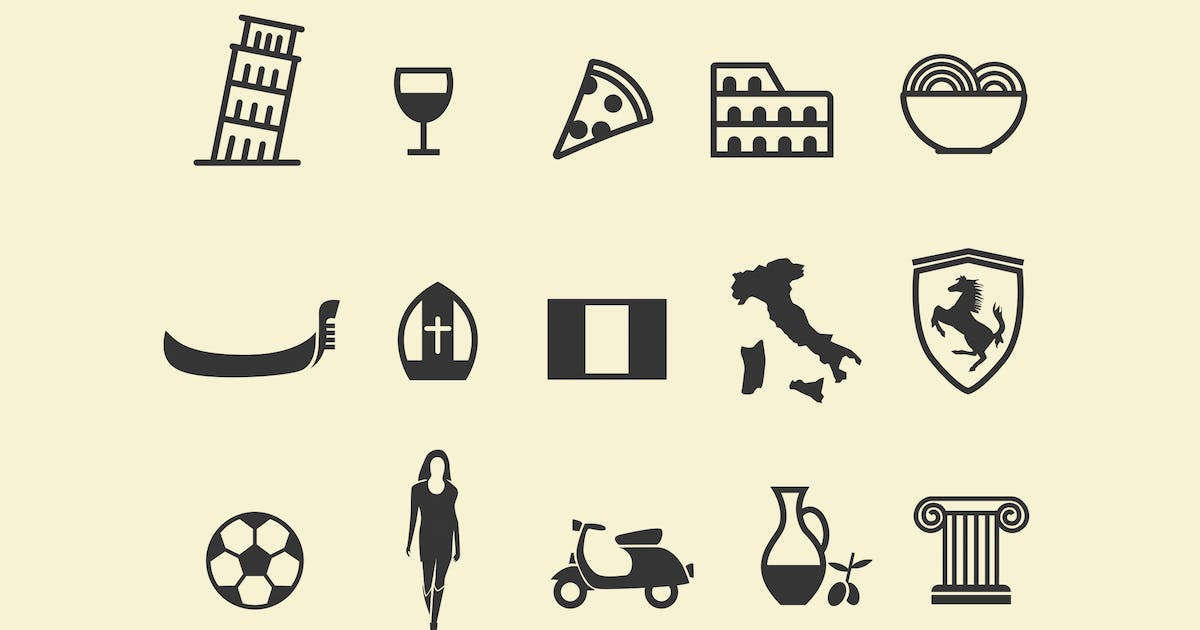 Download 15 Italy Icons by creativevip