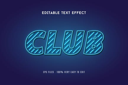 Neon club text effect