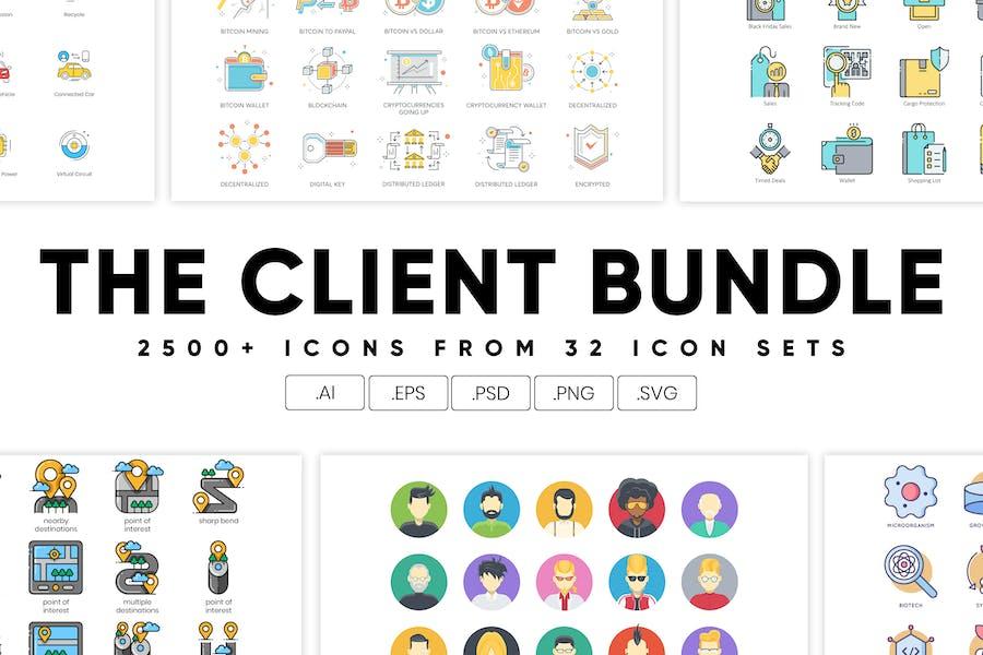 The Client Bundle 2,500+ Icons