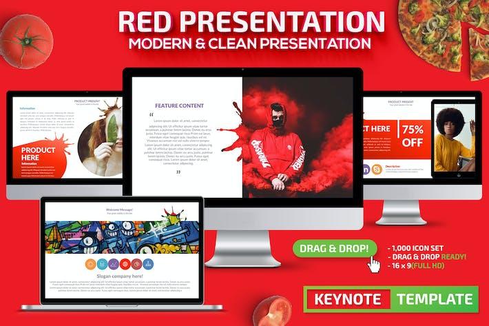 Красный Шаблон презентации Powerpoint