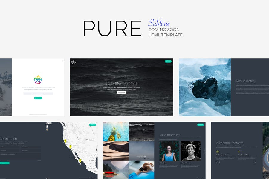PURE - Sublime Coming Soon Vorlage