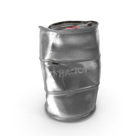 Поврежденный металлический ствол этанола