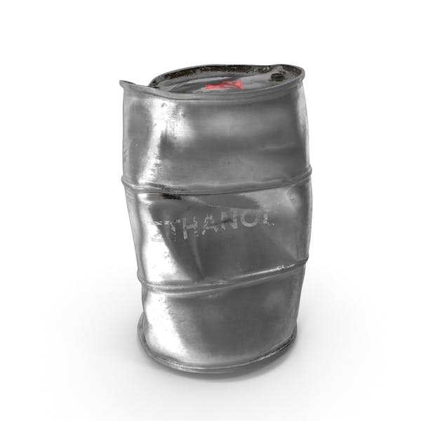 Damaged Ethanol Metal Barrel