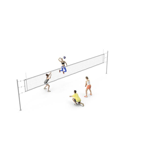 People Volleyball Players
