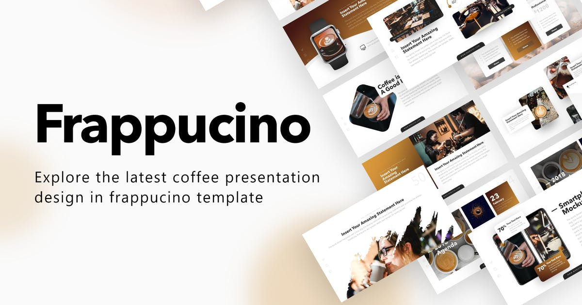 Download Frappucino Coffee Powerpoint Presentation Template by BrandEarth