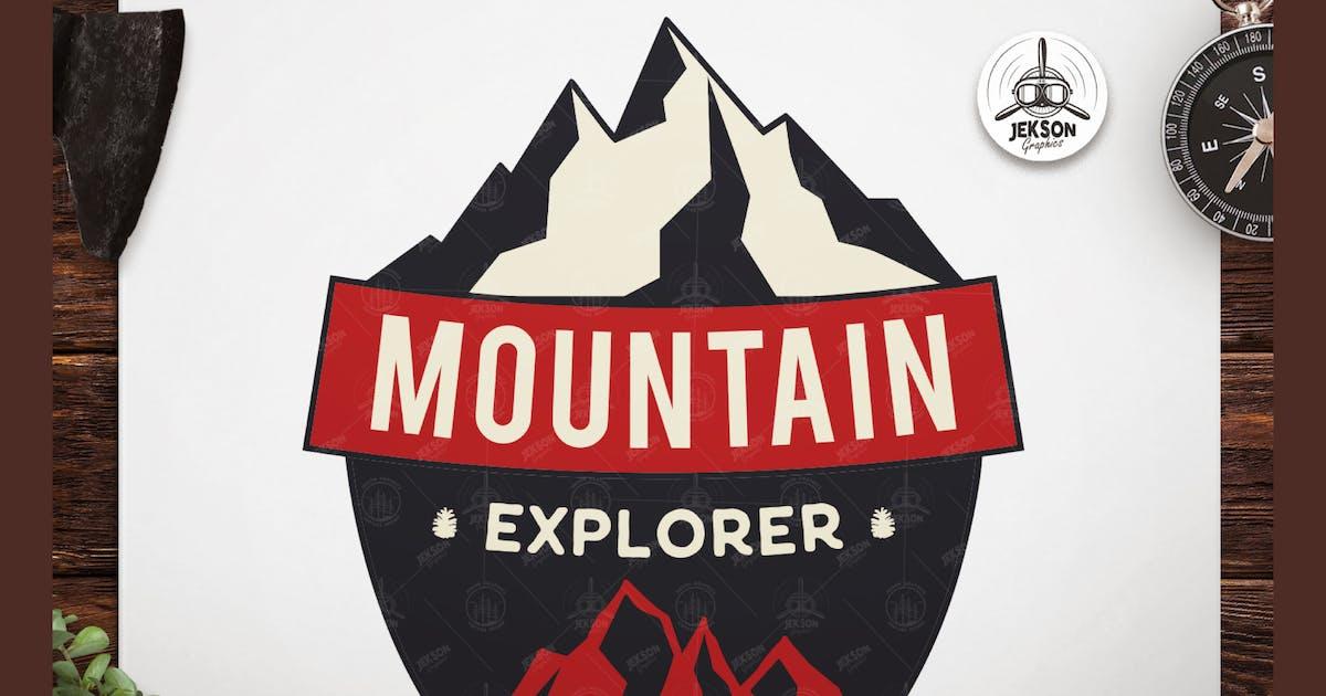Download Mountain Explore Badge / Vintage Travel Logo Patch by JeksonJS