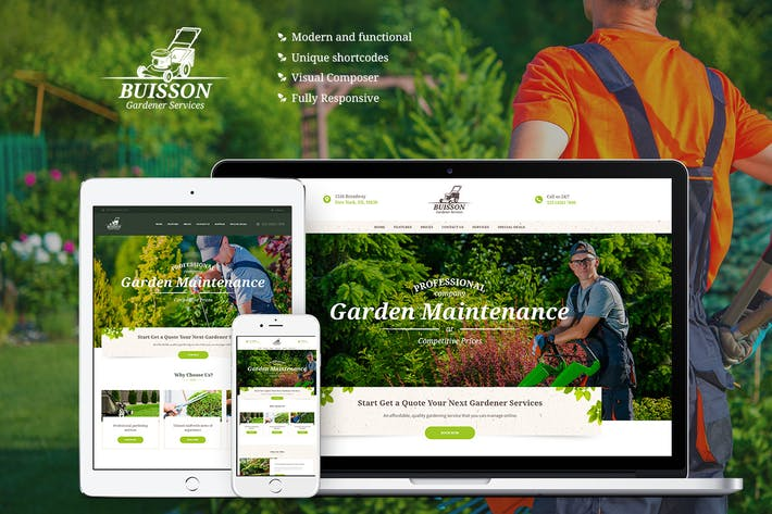 Thumbnail for Buisson - Gardening WordPress Theme