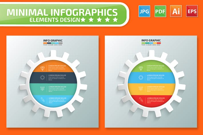 Thumbnail for Gear Infographics Design