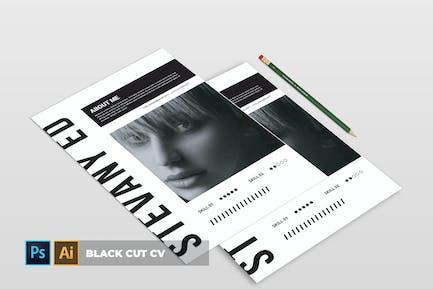 Black Cut | CV & Resume